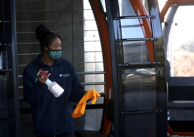 Worker Sanitizing Bus