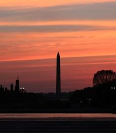 Sunset over D.C.
