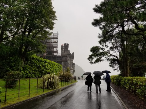 Tourists at an Irish Abby