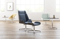 Kimballs Theo chair is a twist on Mid Century that is ...