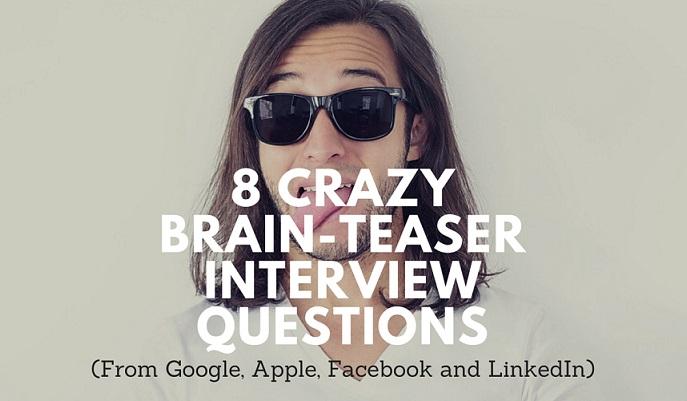 brain teaser interview questions google apple facebook
