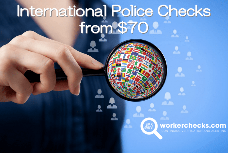 overseas police check from $70