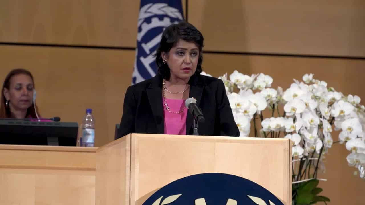 President Ameenah Gurib-Fakim addresses the 106th International Labour Conference