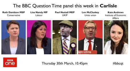 Question Time 30/3/17: Article 50, workers' rights, pointless UKIP, and Marine A,