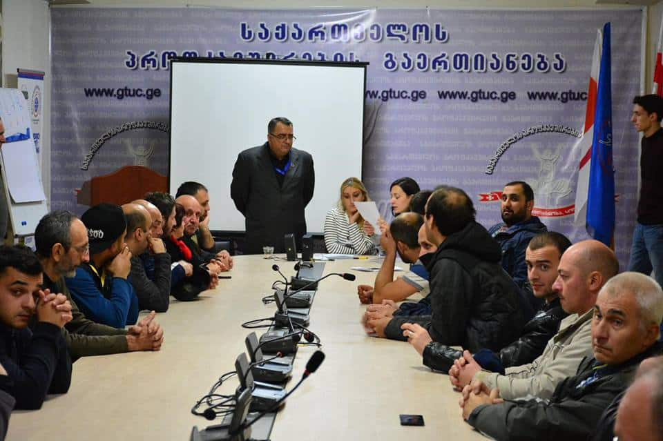 Georgian glass workers create their union after beatings