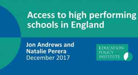 Scrutinising the notion of 'high-performing' schools