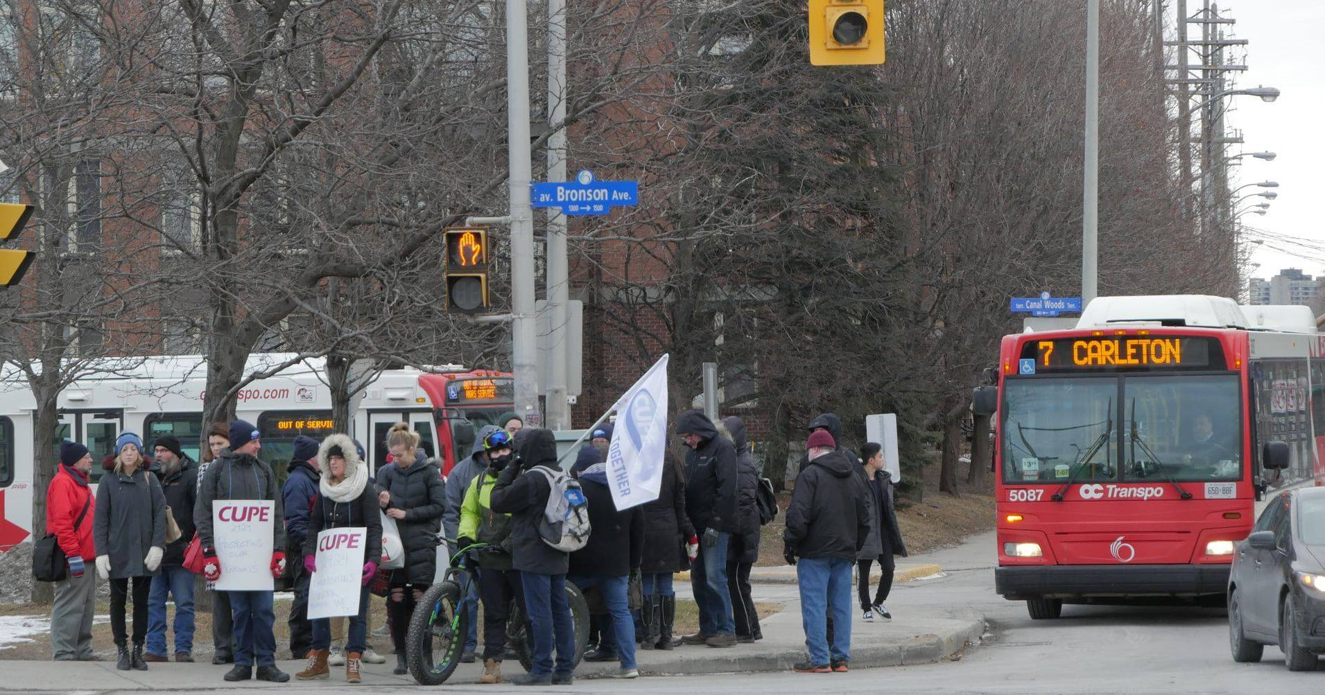 Carleton University's staff on the picket lines in defence of pensions