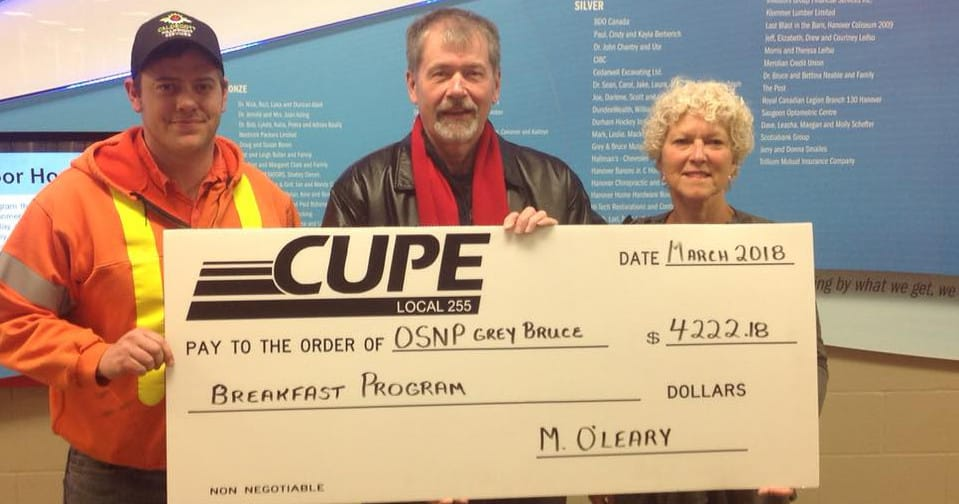 Committed to the communities they call home, CUPE 255 members donate $10,000 to various neighbourhood causes