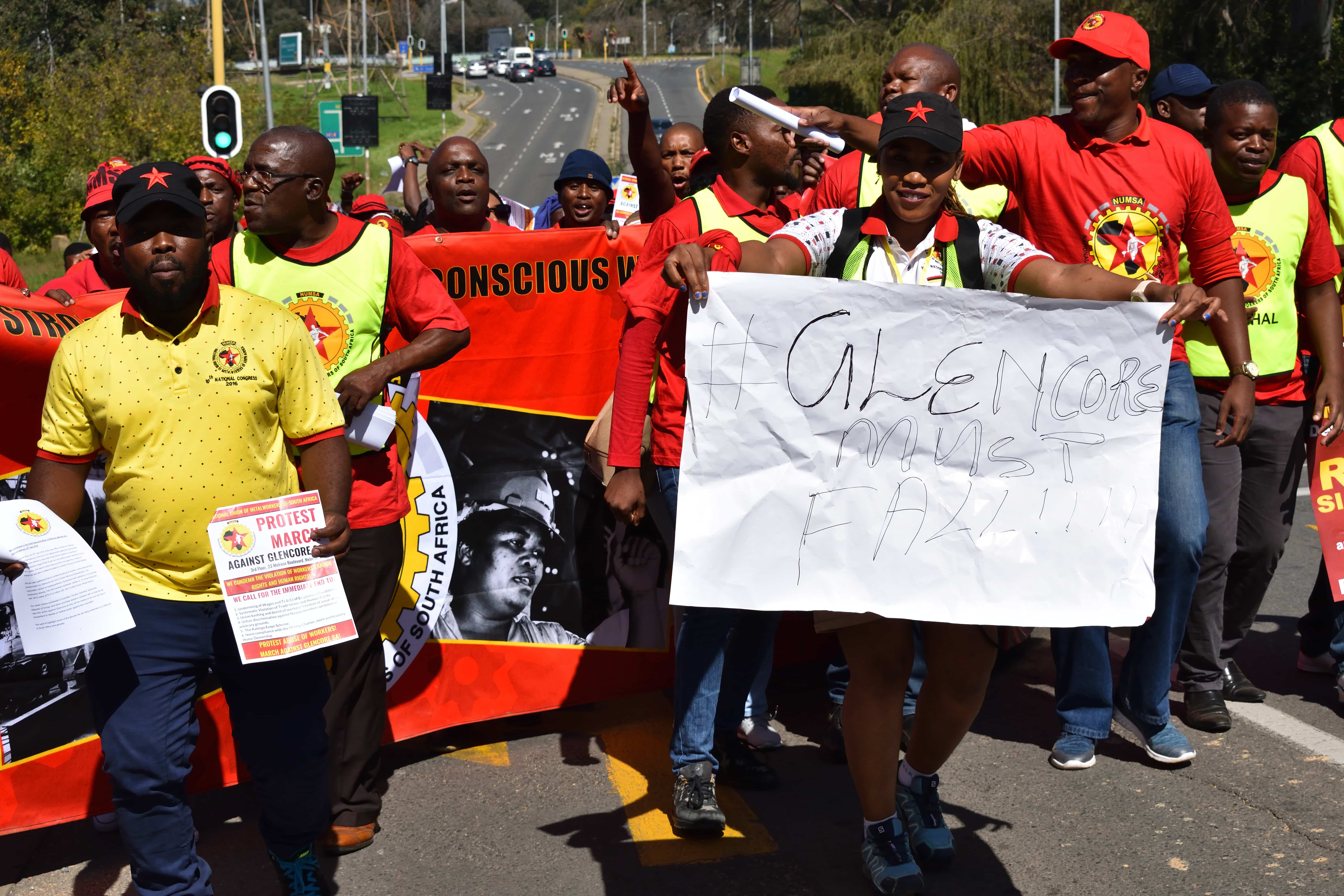 South Africa: Union protests Glencore malpractices