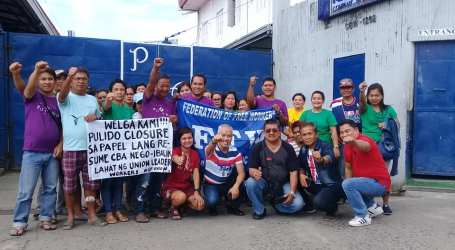 Timberland workers in the Philippines strike over union busting