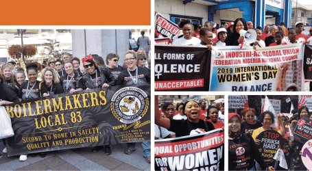 PHOTO PAGE: Trade unions lead the fight for gender equality and against gender-based violence