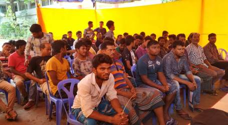 Bangladesh unions organize medical camp for shipbreaking workers