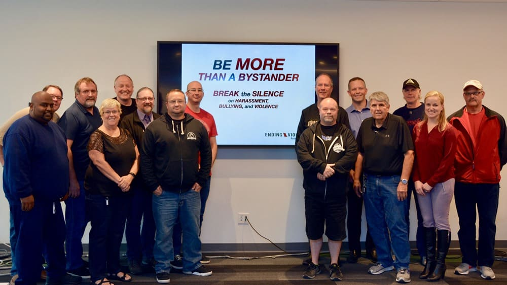 CUPE BC executive board members participate in training to end violence, bullying and harassment.
