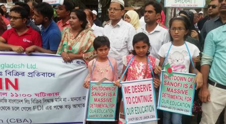 Workers condemn Sanofi decision to leave Bangladesh