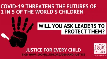 Raise your hand for Justice for Every Child!