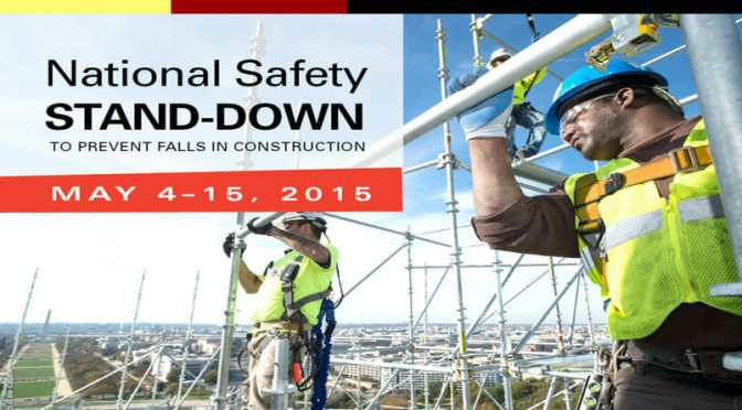 "Focus on Preventing Falls During ""Safety Stand-Down"""
