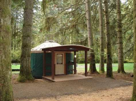 Seaquest State Park has accessible hiking and yurt camping!