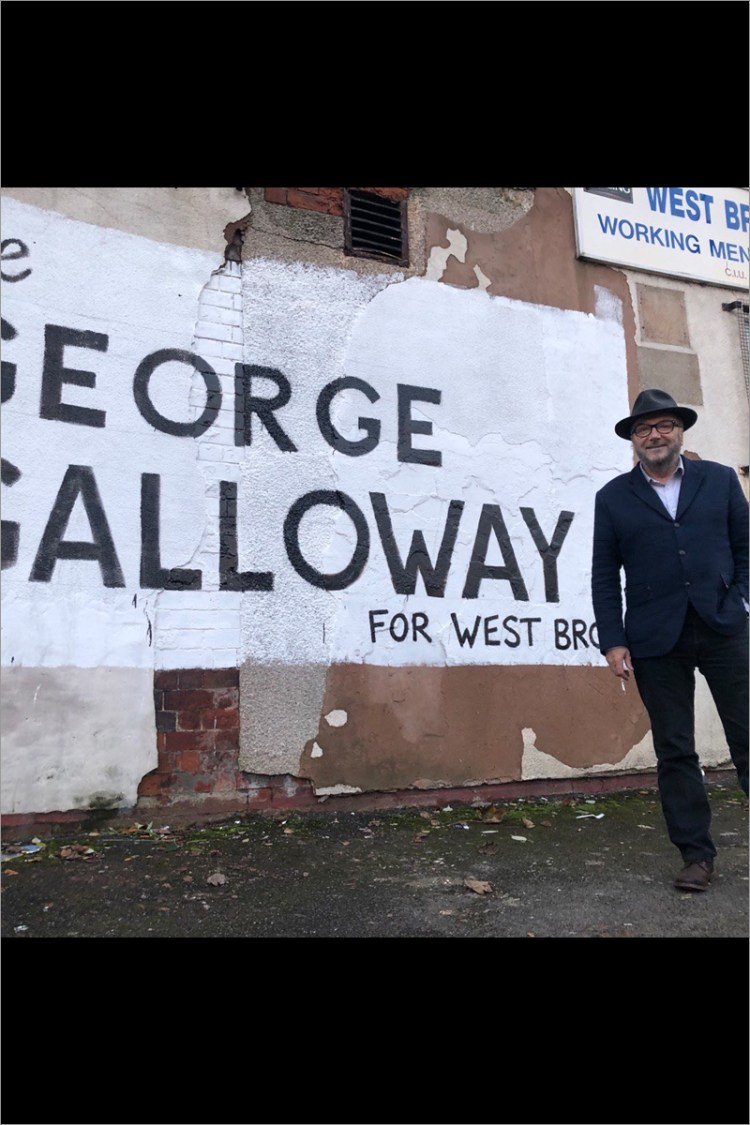 Vote George Galloway mural in West Bromwich East