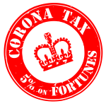 Corona tax crown stamp image