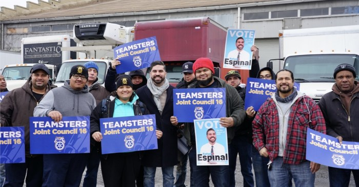 Teamsters Endorse Rafael Espinal for Public Advocate