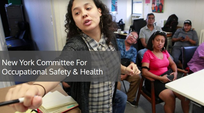 Take Action: NYCOSH COVID-19 Worker Questionnaire