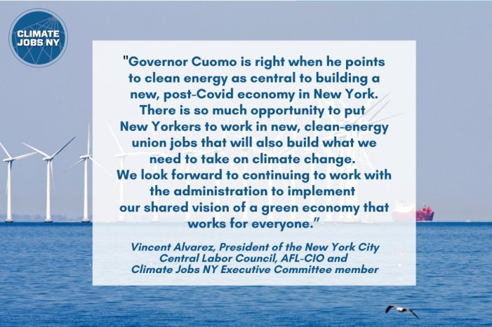 CJNY Applauds Governor Cuomo's Nation-Leading Plan for a Clean-Energy Economy