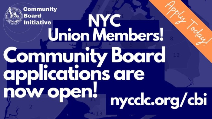 NYC Community Board Applications Are Now Open!