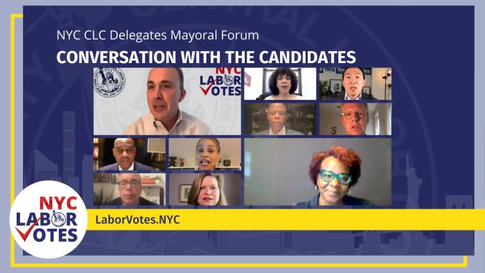 NYC's Top Mayoral Candidates Make their Case to the Labor Movement
