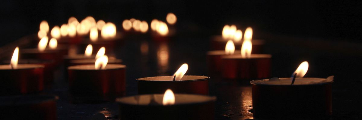 Candles at a funeral.