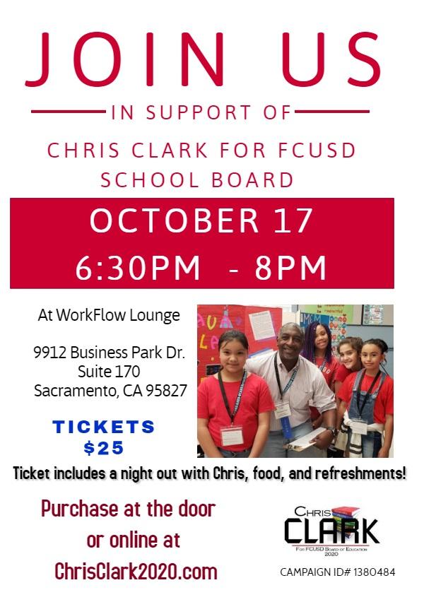 Chris Clark for FCUSD School Board @ WorkFlow Lounge | Sacramento | California | United States
