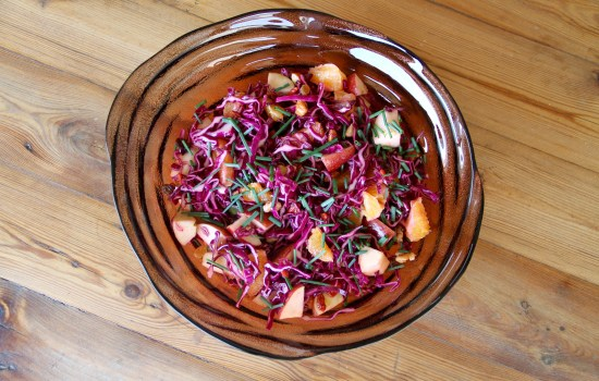 Cabbage, Orange and Apple salad