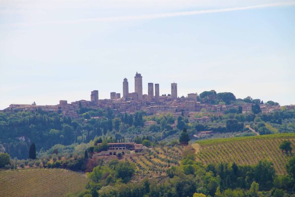 San Gimignano in the background