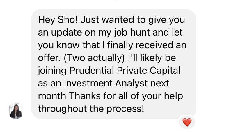 Offer for Investment Analyst