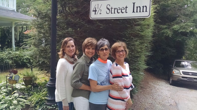 Beth (right) vacationing with three of her four sisters