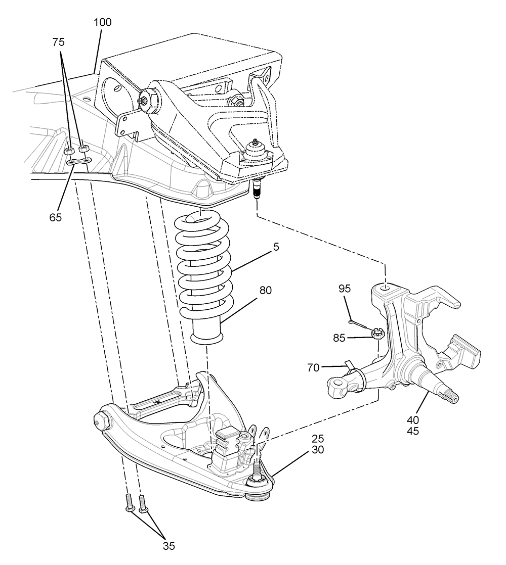 medium resolution of p32 front suspension workhorse parts service chevrolet p 32 motorhome engine diagram