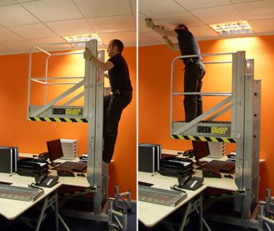 Working over desks working above desks above desk access