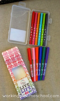 Erin Condren brand markers - top set is new, bottom set is the older version