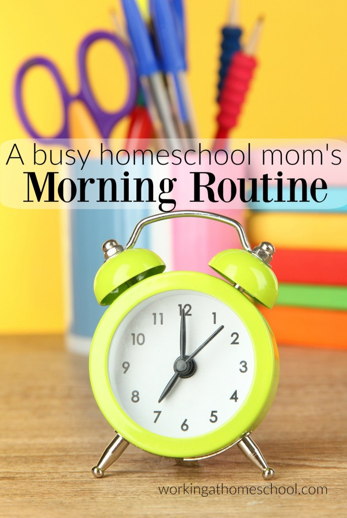 I've needed to get this down for a long time! This is a good morning routine from a busy homeschooling mom