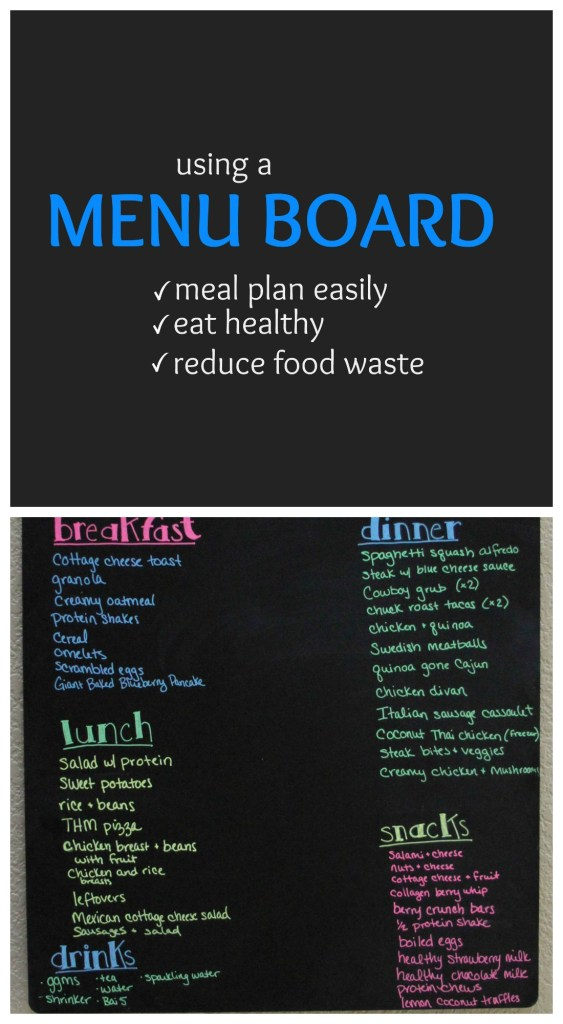 How a menu board can help you to reduce food waste - so simple, but so effective! This really worked for me!
