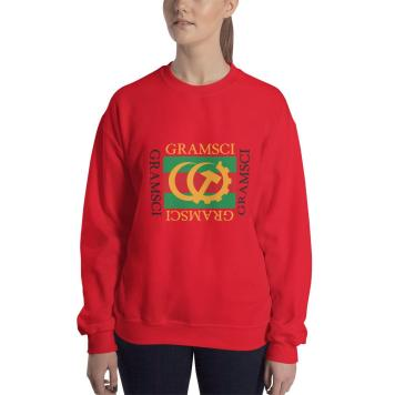 Gramsci red sweatshirt mockup