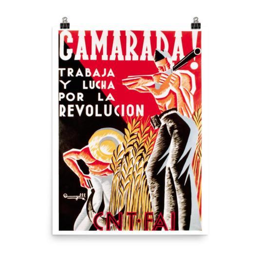 Spanish revolution poster mockup