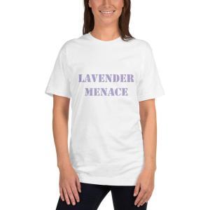 lavender menace T-shirt mockup