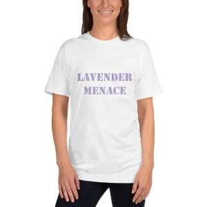 lavender menace T-shirt mockup