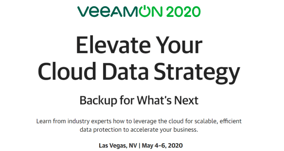 Attend or present at VeeamON 2020