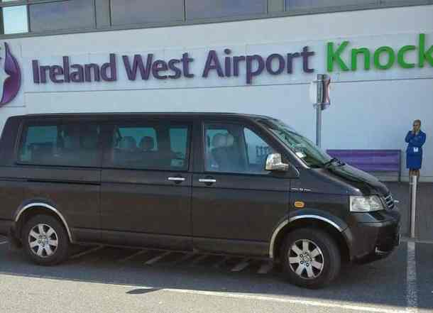 Joe's Taxi, parked up at Ireland West Airport