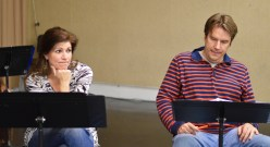 Tess Malis Kincaid and Robin Bloodworth in Theroun D'Arcy Patterson's EWL reading of THE CANNIBALS