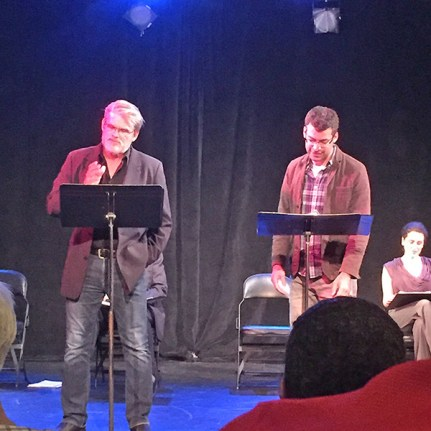 Mark Kincaid and Tony Larkin in Nedra Pezold Roberts' RIGHT