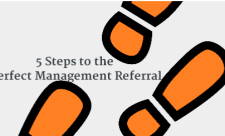 management referral image with words
