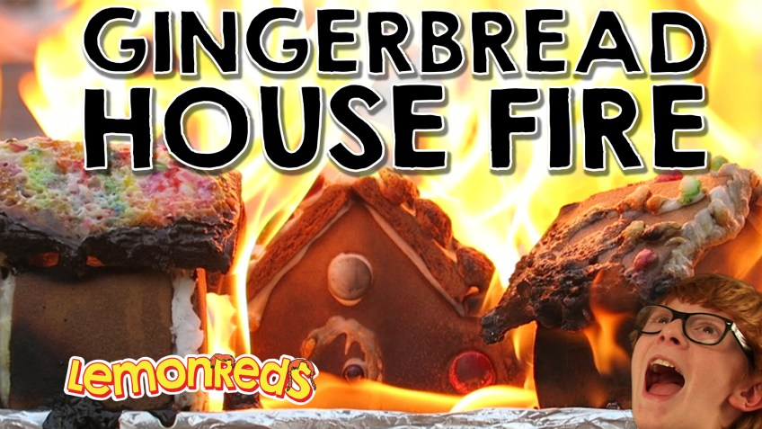 Gingerbread House FIRE