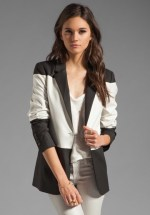 Blow the Bank: Elizabeth and James Colorblock Blazer ($192) - This is more ivory than white...